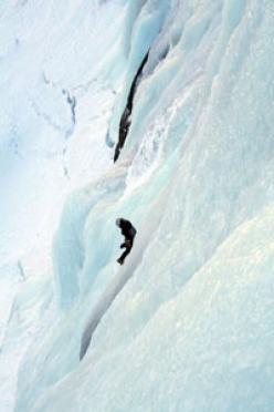 The best ice climbs in the Argentiere basin,  Mont Blanc massif, France