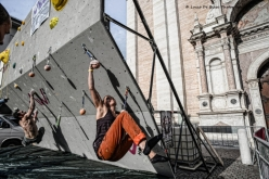 During the 5th edition of Block and Wall, the classic urban bouldering competition at Trento