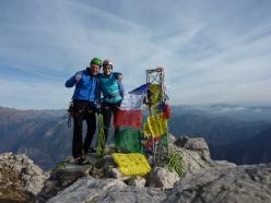 Ivo Ferrari and Federica on the summit