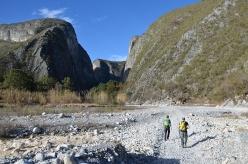 Approaching the crag Las Animas