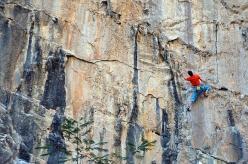 Luca Giupponi climbing at Las Bocas