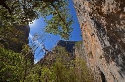 The view onto the fantastic Las Animas cliff at El Salto in Mexico