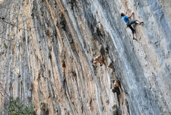 Luca Giupponi onsights another 8a at a Las Animas