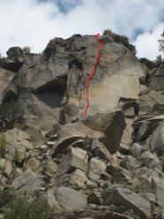 Bloc Party, HVS 5b, Valle del Orco
