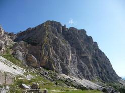 La Via ferrata degli Alpini, Col dei Bois, Dolomiti.