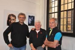Giulio Malfer, Pierluigi Airoldi e Mario Conti at the exhibition Sguardi dall'Alto at Lecco