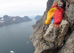 Eliza Kubarska and David Kaszlikowski, Greenland bivvy 2009