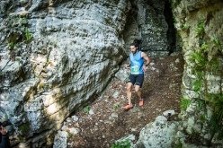 Davide Pierantoni during the third mountain running competition La Velenosa