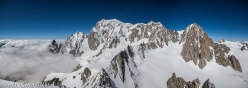 The magnificent East Face of Mont Blanc. The photo was taken from the summit of Tour Ronde