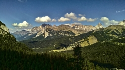The view from the new sector at Crepa Toronda close to Passo Staulanza in the Dolomites.