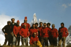 Ragni di Lecco, group photo, Cerro Torre 1974