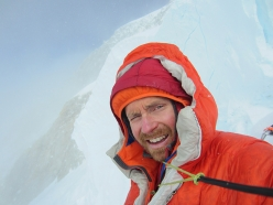 Colin Haley during his audacious solo ascent of the Infinite Spur, Sultana, Alaska