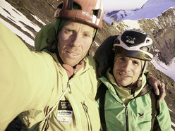 Robert Jasper and Roger Schäli after the first free ascent.