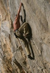 Manolo on-sight su Babai 8a+/8b