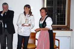 Gherardo Priuli e Tiziana Fragno con Aurelia Bubisutti, Assessore alla cultura del Comune di Tolmezzo