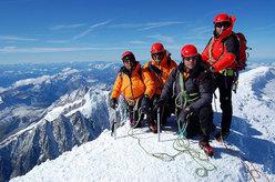 In vetta al Monte Bianco alla fine dell'avventura
