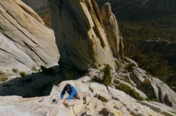 Alex Honnold solo climbing at The Needles, USA
