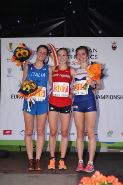 Junior Female from left to right: Giulia Zanne (ITA) Michaela Stranska (CZE) Heidi Davies (GBR)