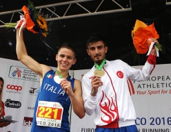 Junior Male from left to right: Davide Magnini (ITA) Ferhat Bozkurt (TUR)