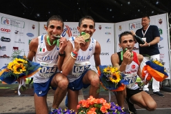 Senior Male from left to right: Bernard Dematteis (ITA) Martin Dematteis (ITA) Ahmet Arslam (TUR)