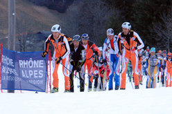 Start! The Pierra 2007 is underway. Guido Giacomelli can be seen in between Gachet and Perrier.