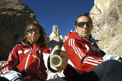 Thomas Huber e Alexander Huber, dati dalla cima: 6251m. Eternal Flame, Nameless Tower, Trango, Karakorum, Pakistan