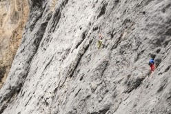 Climbing together with Roberto Conti, on 17 July Federica Mingolla became the first woman to lead the entire Via Attraverso il Pesce (Fish route) on the South Face of Marmolada, Dolomites