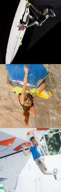Janja Garnbret, Mina Markovic and Adam Ondra, nominated for the La Sportiva Competition Award 2016