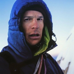 Steve House, self-portrait taken in 2003 after his first attempt and failure to make the second ascent of K7 in the Karakoram range, Pakistan