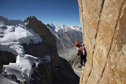 Climbing pitch 20 of Eternal Flame