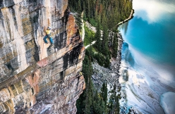 Alexander Megos flash su The Path 5.14 (8b+) a Lake Louise in Canada