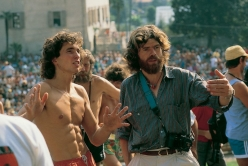 Stefan Glowacz & Reinhold Messner at the Arco Rock Master in 1987