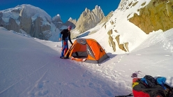 Markus Pucher attempting to solo Cerro Torre in winter on 03/09/2016