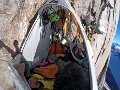 Portaledge camp