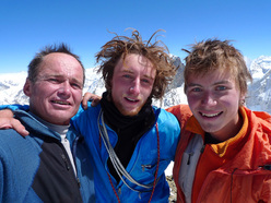Gli sloveni Marko Prezelj (44), Rok Blagus (27) e Luka Lindic (21).