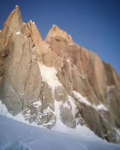 Torre Egger in Patagonia, first climbed solo in winter by Marc-André Leclerc