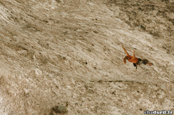 Charlotte Durif from France making the first ascents of Pull Over 8c+ at the Grotte de Galetas, Verdon, France