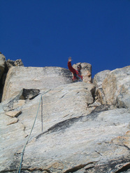 Via Pavlova, Adgap Island, 520m, 11 pitches, 6a.