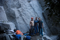 Ben Lepesant, Much Mayr and Guido Unterwurzacher in Yosemite