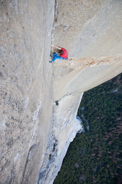 Much Mayr and Guido Unterwurzacher repeating The Shaft, El Capitan, Yosemite