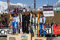 Il podio femminile della Pierra Menta 2007.