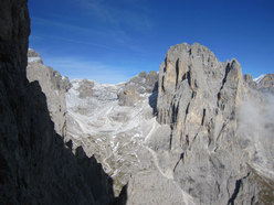 View onto the Pale di San Martino