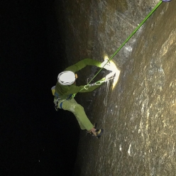 Adam Ondra, night session sulla via Dawn Wall, El Capitan, Yosemite