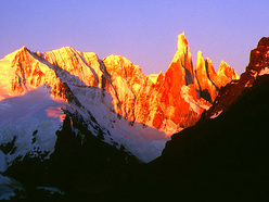 Sunrise over Cerro Torre, Patagonia.