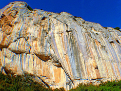 The beautiful climbing area Etxauri, with more than 800 routes from 4a to 9a one of the most important crags in the Basque country, Spain.