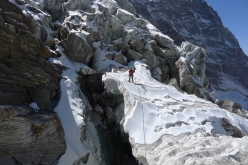 Mick Fowler and Victor Saunders making the first ascent of Sersank (Shib Shankar), 6100m, Indiana Himalayas
