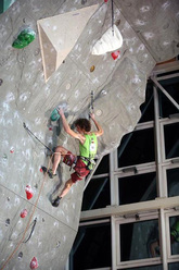 Adam Ondra climbing to victory in both Kranj and the World Cup Lead 2009