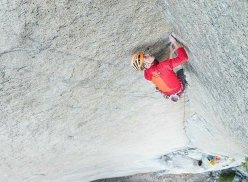 Jorg Verhoeven attempting Dihedral Wall, El Capitan, Yosemite
