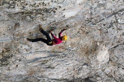 Angelika Rainer in veste drytooling