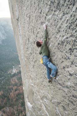 Adam Ondra climbing the Dawn Wall, El Capitan, Yosemite